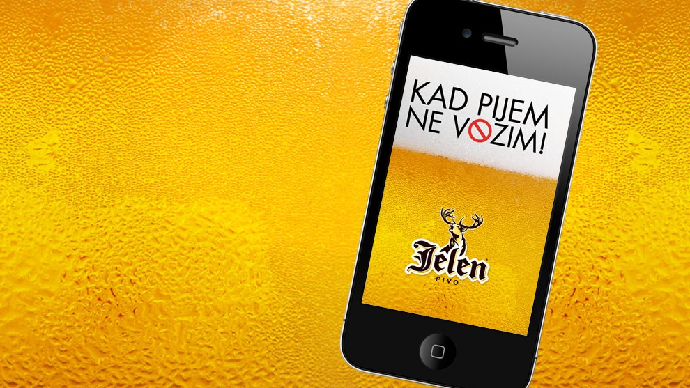 If life's dear to you – don't let the deer fail! Jelen Beer Sobriety Test App