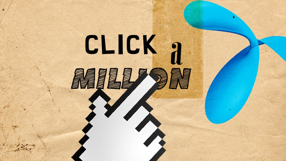 Reach out the hand and Click a Million!